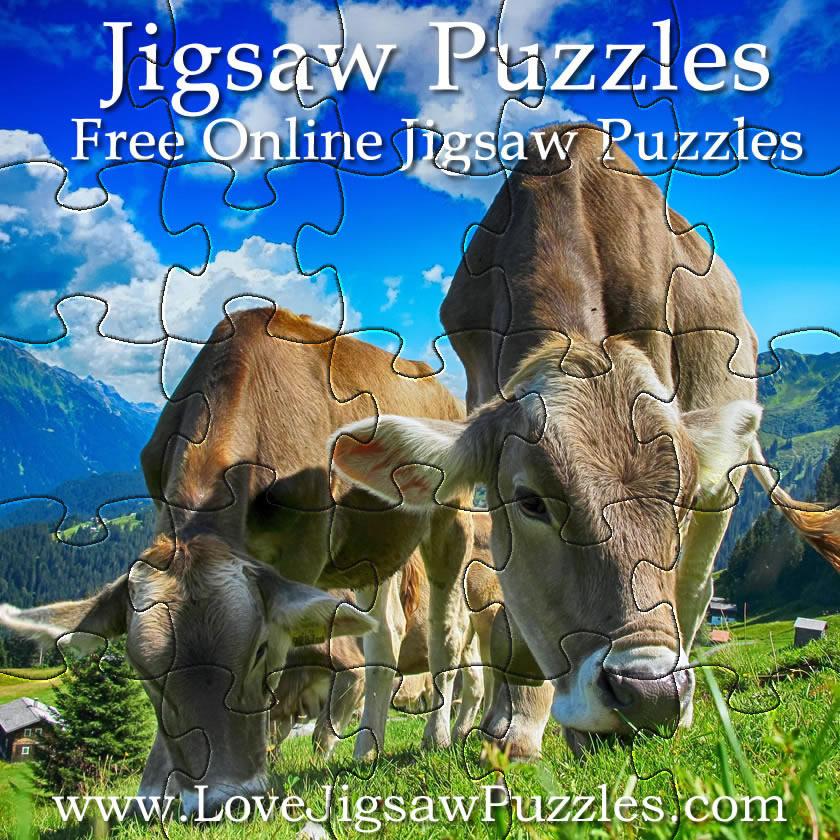 Farm Animal Jigsaws 12 Free Jigsaw Puzzles