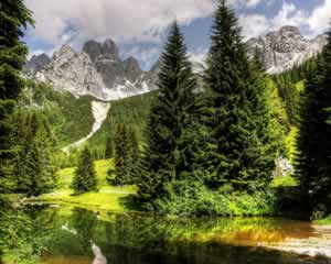 Almsee Lake and Mountains, Austria - jigsaw puzzle