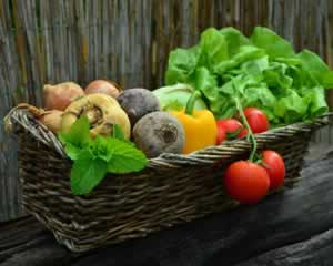 Basket of vegetables jigsaw